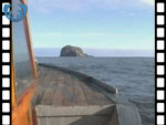 Bass Rock, from the sea (video clip)