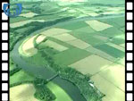 Aerial View of Borders countryside (silent video clip)