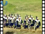 Vikings Marching on Shetland (silent video clip)