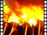Up Helly-Aa Torchlight Parade (silent video clip)