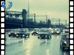1979 Heavy Traffic During Rail Strike (silent video clip)
