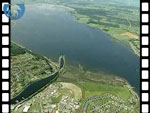 Aerial View of Caledonian Canal at Moray Firth (silent video clip)