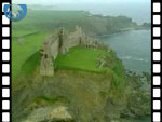 Aerial View of Tantallon Castle (silent video clip)