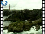 Aerial View of Butt of Lewis Lighthouse (silent video clip)