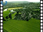 Aerial View of Cambuskenneth And Abbey (silent video clip)