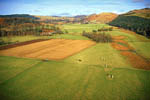 Nether Largie stones (aerial looking north to Kilmartin)