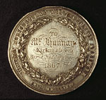 Agricultural medal, awarded for cheddar making, 1867