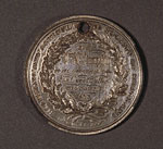 Agricultural medal, awarded for butter making, 1873