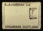 Advertisement for Hannay's Sheuchan Mill, Stranraer