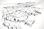 Arran: Kilpatrick Dun (Reconstruction drawing)