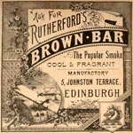 Advertisement for Rutherford's, 5 Johnston Terrace