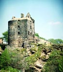 View of Ravenscraig Castle, Kirkcaldy, Fife Region