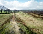 View of Antonine Wall near Rough Castle, Bonnybridge, Central Region