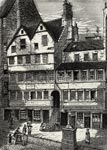 19th century engraving of Allan Ramsay's shop in the High Street in Edinburgh
