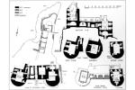 Drawing showing section and plans of Ravenscraig Castle, Kirkcaldy, Fife
