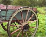 1930s Box Cart for Peats with its Big Wheels