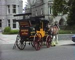 1885 Stagecoach Waiting for Passengers