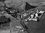 Aerial view of Mauchline Colliery, Ayrshire