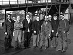 A happy group of miners at Bogside Mine, Culross, Fife