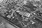 Aerial view of Lady Victoria Colliery, Newtongrange, Midlothian, after it closed in 1981