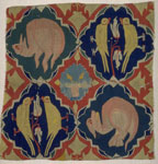 14th Century German Tapestry Fragment Depicting Birds and Beasts