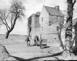 Burleigh Castle - Milnathort - Kinross - Exterior - Farm worker with 2 horses