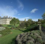 Abbey of Holyrood and the Palace of Holyroodhouse with gardens, Edinburgh