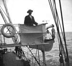 "Captain Thomas Robertson on Bridge Wing of S.Y. ""Scotia"""