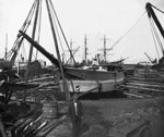 """Scotia"" under Reconstruction in Shipyard at Troon"