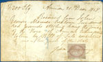 Receipt for the schooner Rose of Annan, 1858