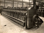 64-bobbin spinning machine at the Baltic Works, Dundee, 1934