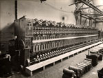 100-bobbin spinning machine at the Baltic Works, Dundee, 1934