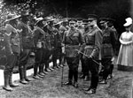 King George V inspecting members of the South African Native Labour Corps, during World War I