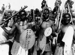 South Africans performing a traditional war dance, France, during World War I