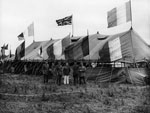 YMCA tent at a horse show, during World War I