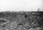 Absolute destruction at Athies, France, during World War I