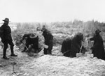 Labour Corps digging, Western Front, during World War I