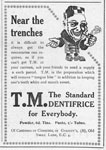 Advertisement for Dentifrice