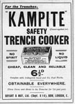 Advertisement for Kampite safety trench cookers