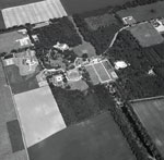 Aerial view of Gordonstoun House, Moray