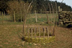 C14: Coracle construction, bending the coracle frame
