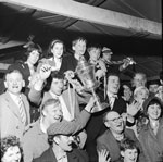 Bonnyrigg Rose with the Cup 1966