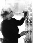 Wilhelmina Barns-Graham working on 'Progression II' St Ives 1966