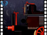 Animation of firebox from locomotive (video clip)