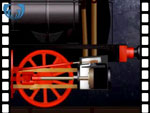 Animation of cylinder from locomotive (video clip)