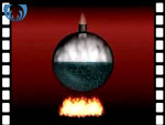 Animation explaining the principle of the creation of a vacuum by condensing steam (video clip)