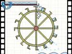 Animation of how an overshot water wheel works (video clip)