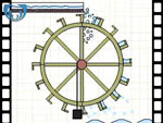Animation of John Smeaton's efficiency experiment using an overshot water wheel (video clip)