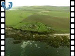 Aerial View of Broch of Gurness (silent video clip)