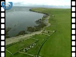 Aerial View of Archaeological Sites on Rousay (silent video clip)